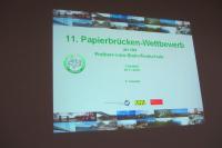 11. Papierbrückenbau-Wettbewerb