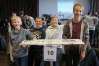 Auf dem 2. Platz: Louis Gerding, Fabian Göckener, Kai Lesting und Sven Steinkamp